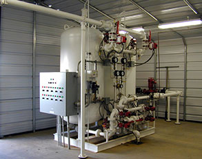 Skid-Mounted Vertically Orient Filtration System