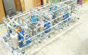 Vacuum Degasifier pump skid built in H&T shop