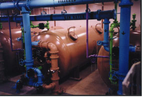 4,000GPM Automatic Ferrosand Filter installed in an Ohio municipal water works factory.
