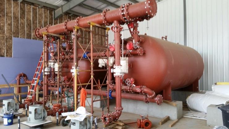 Installation 2x 10'x20' horizontal pressure filter
