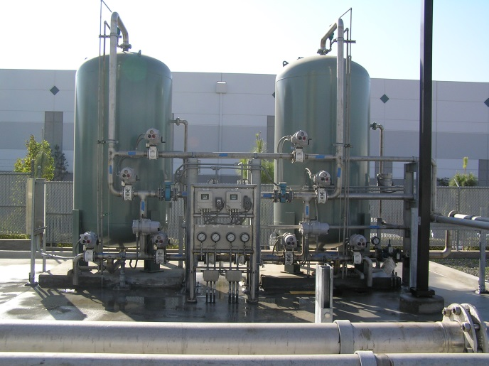 "2x 72"" anion ion exchange systems"