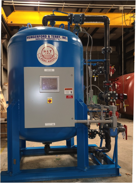 Single 5ft H&T Plug & Play skid mounted GreensandPlus Iron and Manganese filtration system ready for shipment