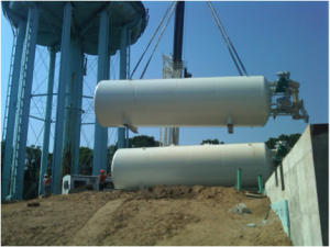 Horizontal GreensandPlus Filter and Degasifier System in New England