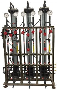 3 column manually operated pilot lab